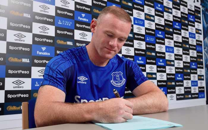 Wayne Rooney has rejoined Everton on a two-year deal from their Premier League rivals. Picture: Twitter/@Everton