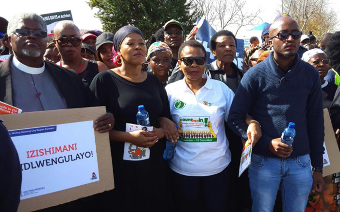 Minister for Women in the Presidency Susan Shabangu joins concerned citizens for the #NotInMyName march against gender-based violence march in Soweto on 26 May 2017. Picture: Louise McAuliffe/EWN.