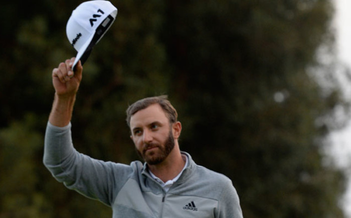 FILE: Dustin Johnson celebrates his win on the 18th hole during the final round at the Genesis Open at Riviera Country Club on February 19, 2017 in Pacific Palisades, California. Picture: AFP.