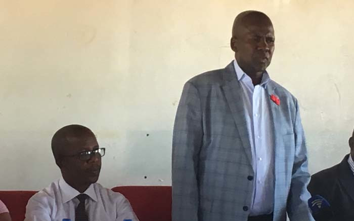 North West Education MEC Sello Lehari at a media briefing on 22 November 2018 following the fatal stabbing of grade 1 learner at Dikeledi Makapan Primary School in Makapanstad. Picture: Robinson Nqola/EWN