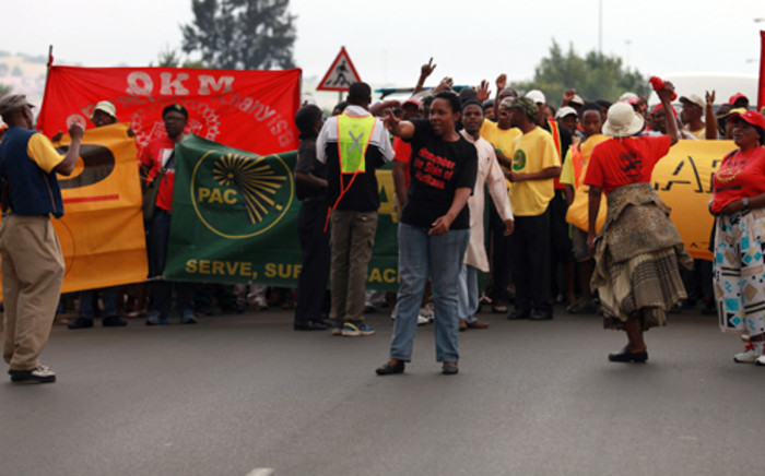FILE: Soweto residents stage a protest against 'expensive' water bills. Picture: EWN.