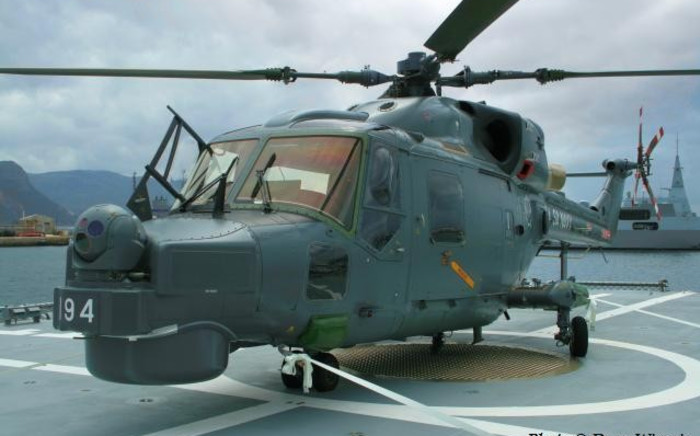 An AgustaWestland Super Lynx 300 helicopter acquired in the arms deal. PICTURE: Dean Wingrin