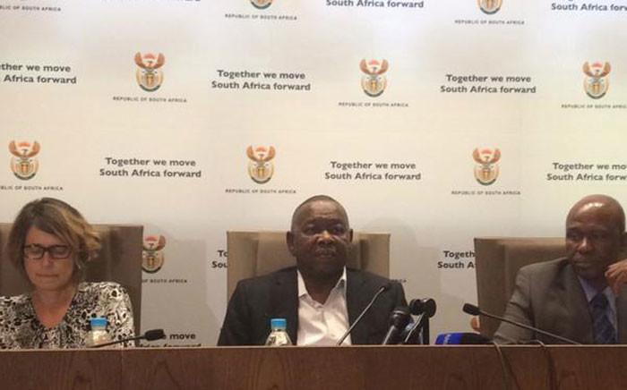 Higher Education Minister Blade Nzimande (M). Picture: Thando Kubheka/EWN.