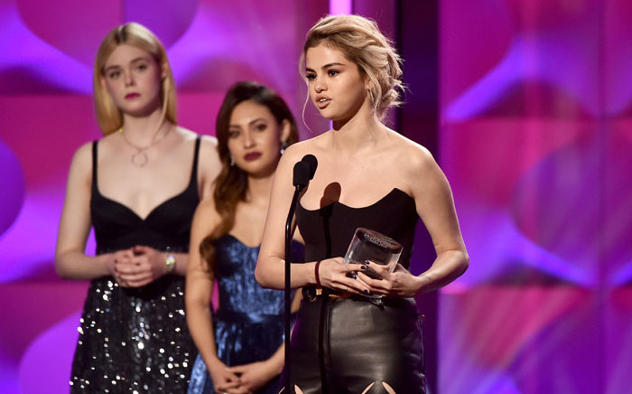 Selena Gomez accepts the Woman of the Year Award onstage at Billboard Women In Music 2017 at The Ray Dolby Ballroom at Hollywood & Highland Center on 30 November, 2017 in Hollywood, California. Picture: AFP