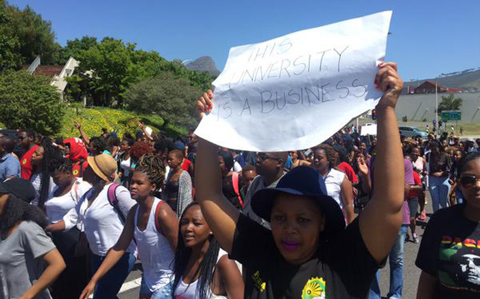 FILE: Cape Peninsula University of Technology's students have just joined the chorus of protesting students across the country calling for universities to stop their proposed fee hike. Picture Xolani Koyana/EWN