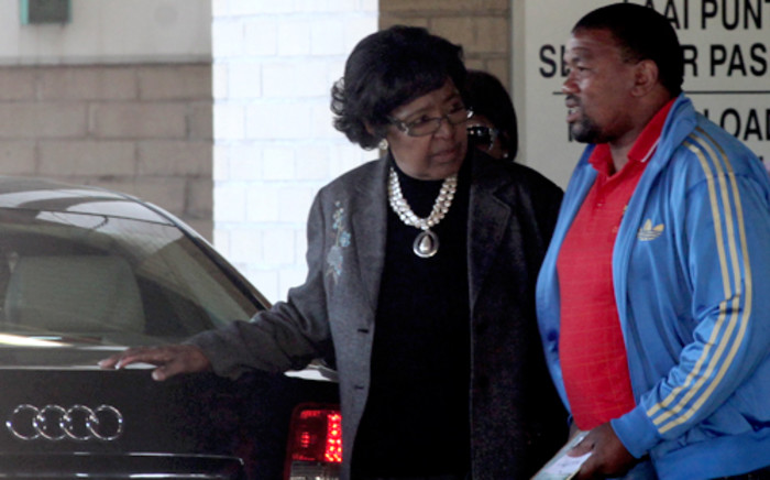 Former president Nelson Mandela's ex-wife Winnie Madikizela-Mandela outside the Mediclinic Heart Hospital. Picture: EWN