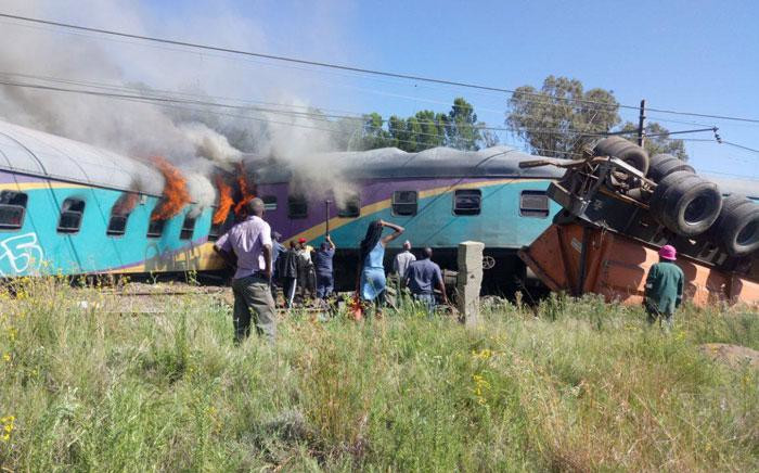 Train accident in the Free State on 4 January, 2018. Picture: Supplied