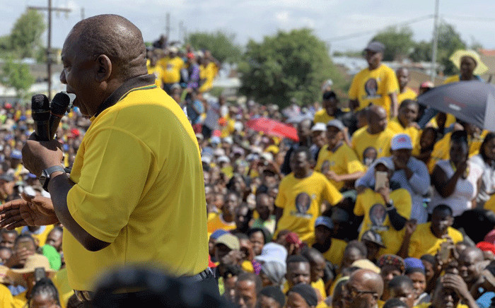 President Cyril Ramaphosa in Diepsloot on 4 April 2019. Picture: @MYANC/Twitter.
