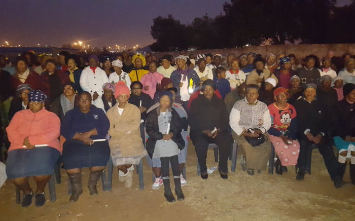 Thousands gather in Naledi, Soweto, to hold a night vigil against women abuse. Picture: Masa Kekana/EWN.