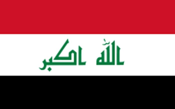 Flaf of Iraq.