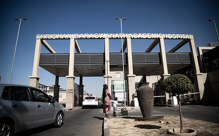 FILE: The Chris Hani Baragwanath Hospital in Soweto is one of the designated facilities for managing COVID-19 cases in the country.