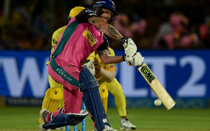 FILE: Rajasthan Royals cricketer's Ben Stokes plays a shot during the 2018 Indian Premier League (IPL) Twenty20 cricket match between Rajasthan Royals and Chennai Super Kings at the Sawai Mansingh Stadium in Jaipur on 11 May 2018. Picture: AFP.