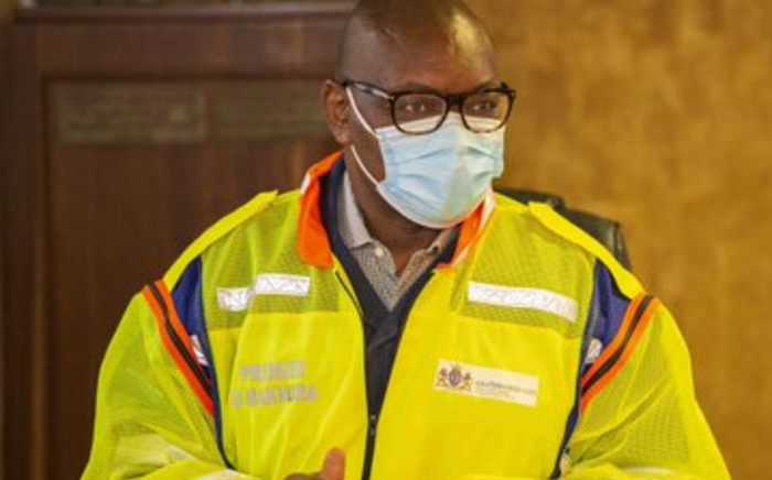 Gauteng Premier David Makhura announced the temporary closure of Charlotte Maxeke Academic Hospital during his visit with MECs for Health and Infrastructure, Dr Nomathemba Mokgethi and Tasneem Motara, Saturday 17 April 2021 to inspect the damage to the facility following a fire. Picture: Twitter/@GautengHealth