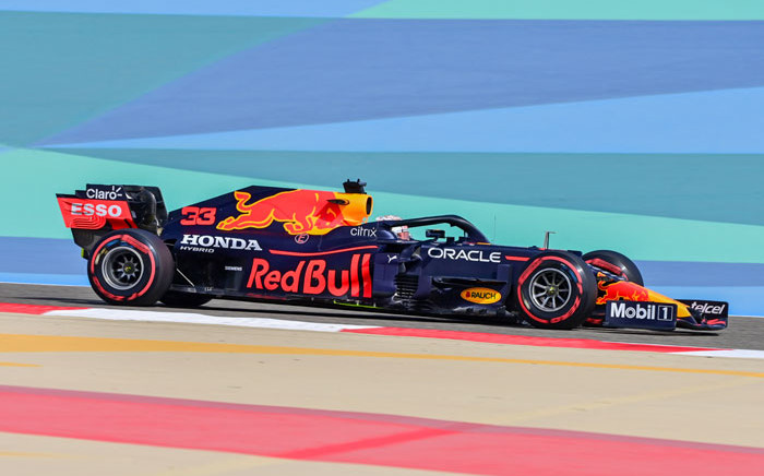 Red Bull's Dutch driver Max Verstappen drives during the first practice session ahead of the Bahrain Formula One Grand Prix at the Bahrain International Circuit in the city of Sakhir on 26 March 2021. Picture: Andrej Isakovic/AFP