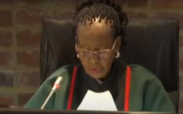 Justice Sisi Khampepe. Picture: YouTube screenshot.