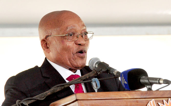 President Jacob Zuma addressing Freedom Day celebrations in Manguzi on 27 April 2017. Picture: GCIS