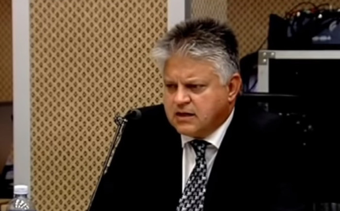 A screengrab of IT Strategy executive Andre Rabie addressing Nugent Commission of Inquiry in Pretoria on 15 October. Picture: YouTube