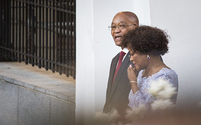 FILE: President Jacob Zuma and Speaker Baleka Mbete in conversation while walking down the red carpet ahead of the State of the Nation Address on 11 February 2016. Picture: Aletta Harrison/EWN.
