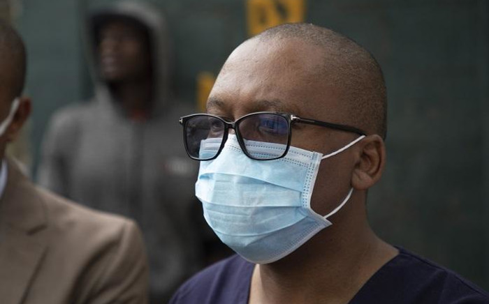 Gauteng Health MEC Dr Bandile Masuku and the provincial executive council on 31 March 2020 rolled out massive community screenings and testing programmes in Alexandra township to screen residents for coronavirus (COVID-19). Picture: Ahmed Kajee/EWN.
