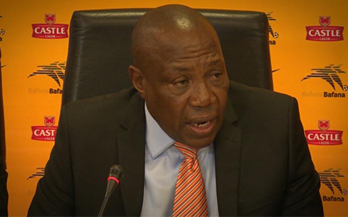 Bafana Bafana Coach Ephraim 'Shakes' Mashaba. Picture: EWN.