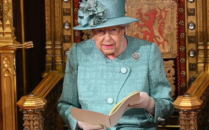 FILE: Britain's Queen Elizabeth II delivers the Queen's Speech on the The Sovereign's Throne in the House of Lords chamber, during the State Opening of Parliament in the Houses of Parliament in London on 19 December 2019. Picture: AFP