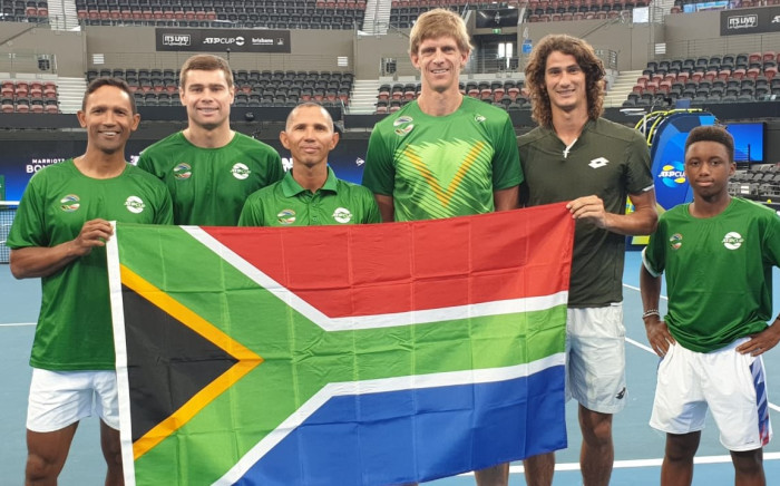 The South African team to represent South Africa in the inaugural ATP Cup consists of Raven Klaasen, Ruan Roelofse, Jeff Coetzee (captain), Kevin Anderson, Lloyd Harris and Kholo Montsi. Picture: Tennis South Africa