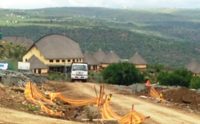 Construction underway at the Nelson Mandela Museum in Mvezo on 4 December 2014. Picture: Vumani Mkhize/EWN.