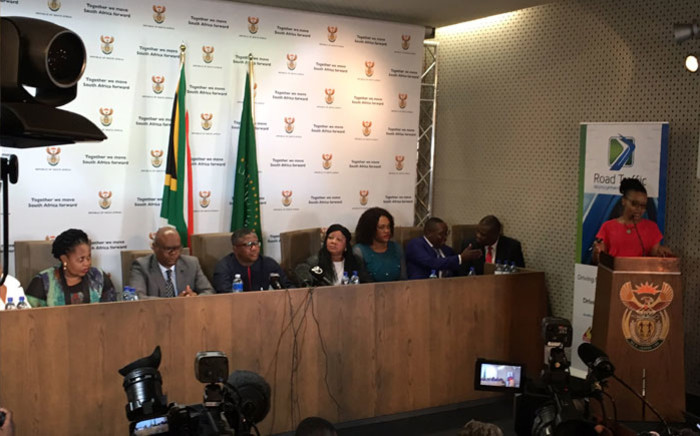 Transport Minister Fikile Mbalula gives the 2019/2020 festive season road safety report in Pretoria on 23 January 2020. Picture: Kgomotso Modise/EWN