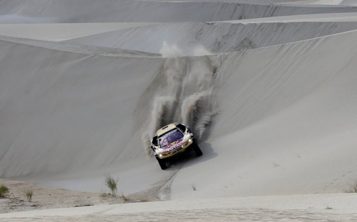 A competitor in action during the 2018 Dakar Rally. Picture: @dakar/Twitter