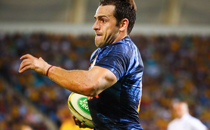 FILE: Argentina's Nicolas Sanchez runs with the ball during the Rugby Championship match between Australia and Argentina on the Gold Coast on 15 September 2018. Picture: AFP