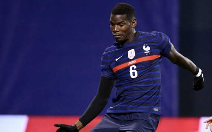 France midfielder Paul Pogba plays the ball during the UEFA Nations League Group A3 football match between Croatia and France at the Maksimir Stadium in Zagreb on 14 October 2020. Picture: AFP