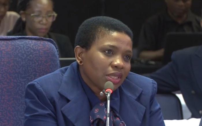 FILE: Advocate Nomgcobo Jiba at the Mokgoro inquiry on 21 February. Picture: Kayleen Morgan/EWN.