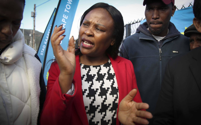 The file photo shows Public Protector, Busisiwe Mkhwebane during a visit to Masiphumelele in Cape Town. Picture: Cindy Archillies/EWN
