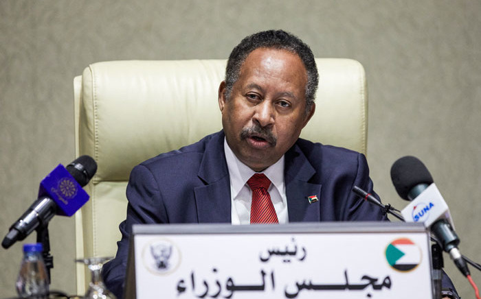 FILE: Sudan's Prime Minister Prime Minister Abdalla Hamdok chairs a cabinet meeting in the capital Khartoum on 21 September 2021. Picture: AFP
