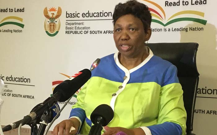 FILE: Basic Education Minister Angie Motshekga. Picture: Hitekani Magwedze/EWN