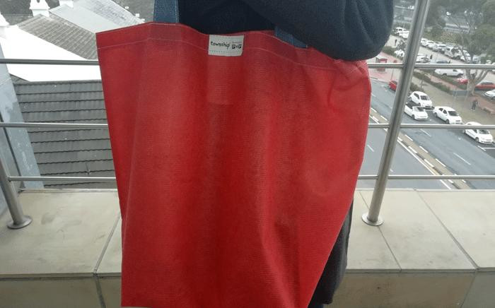 The new Pick n Pay carrier bags  will have zero added calcium and be made from 100% recycled material. Picture: Shamiela Fisher/EWN