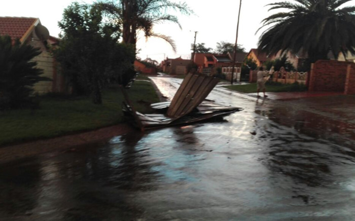 Emergency service officials have been dispatched to Ennerdale, south of Johannesburg after an apparent tornado ripped through the area on  14 November 2016. Picture:  @FaizelPatel143