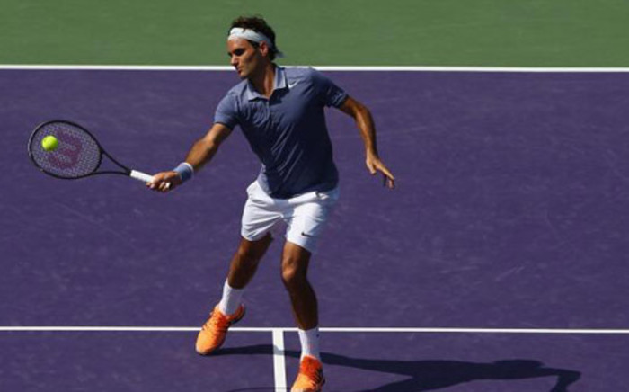 Roger Federer in action at the Sony Open in Miami against Thiemo De Bakker. Picture: Facebook.com.