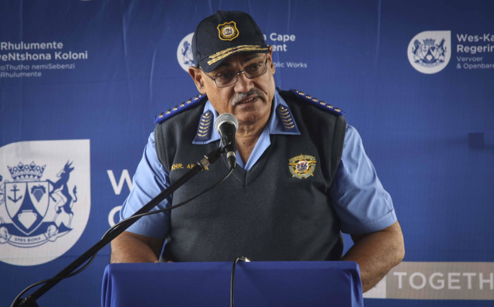 FILE: Western Cape traffic chief Kenny Africa addresses the media ahead of the Easter weekend. Picture: EWN.
