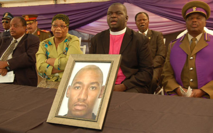 North West Premier Thandi Modise attends the funeral service of Rifleman Karabo Edwin Matsheka who fell in the Central African Republic. Picture: Supplied