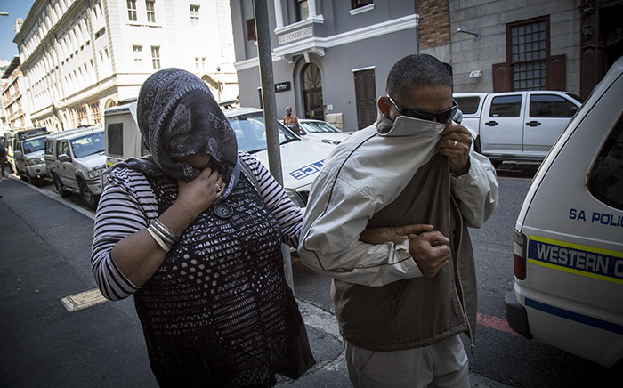 The accused in the Zephany Nurse trial makes her way from the Western Cape High Court. Picture: Thomas Holder/EWN