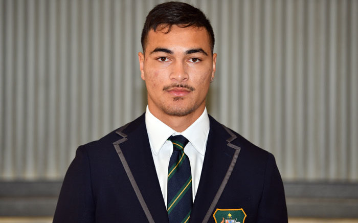 Australia's Jordan Petaia poses for photos during the Australia Wallabies World Cup squad announcement in Sydney on 23 August 2019. Picture: AFP