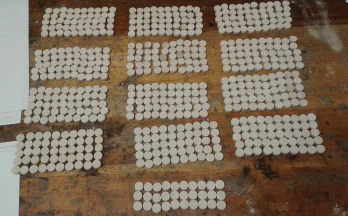 Mandrax tablets found by SAPS in Parow. Picture: @SAPoliceService/Twitter