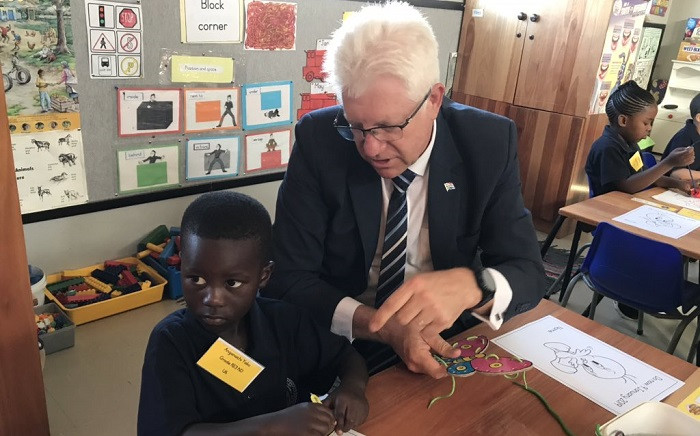 Alan Winde at the Forest Village Leadership Academy on 9 January 2019. Picture: Lauren Isaacs/EWN
