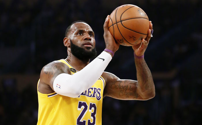 FILE: LeBron James of the Los Angeles Lakers is seen at the free-throw line during a game against the Brooklyn Nets at the Staples Center on 10 March 2020 in Los Angeles, CA. Picture: AFP
