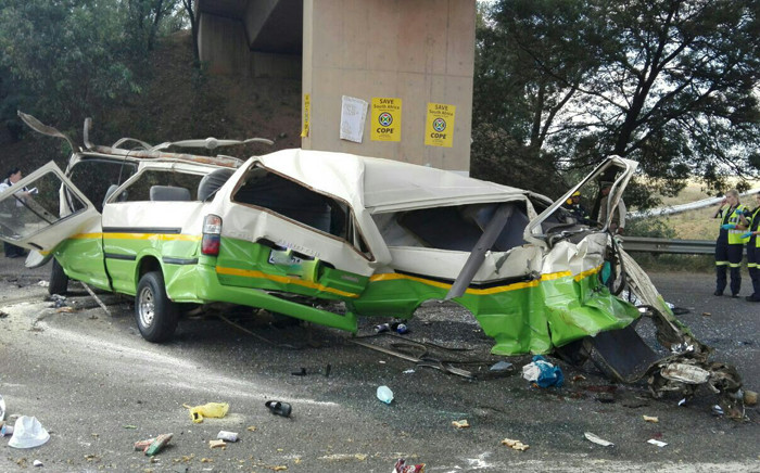 At least 14 were killed in the Randfontein crash on the R41, two others have been rushed to hospital in a critical condition. Picture: @Netcare911_sa.