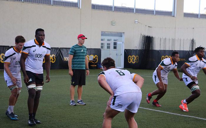 The Junior Springboks during training. Picture: Twitter/@JuniorBoks