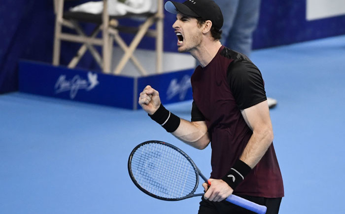 FILE: Britain's Andy Murray reacts as he plays against Switzerland's Stanislas Wawrinka during their men's single tennis final match of the European Open ATP Antwerp, on 20 October 2019 in Antwerp. Picture: AFP
