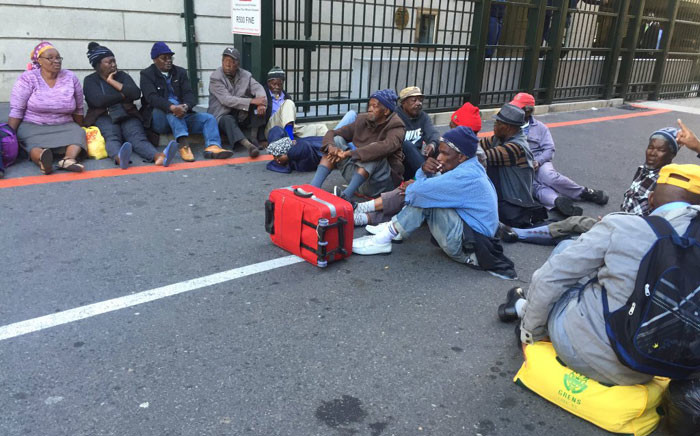 Pensioners protest at Parliament on 5 May 2016. Picture: Xolani Koyana/EWN.