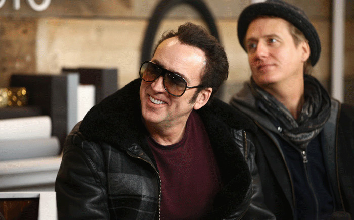 FILE: Actors Nicolas Cage and Linus Roache of 'Mandy' attend The IMDb Show on Location in January 2018. Picture: AFP.